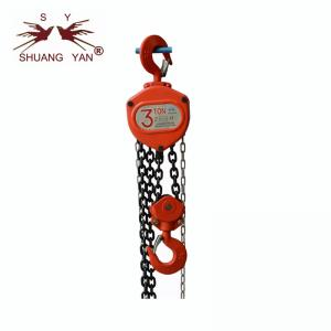 China 3000KG Hoist Chain Block Manufacturer, Safety Latch For Chain Block Strong Hand Pulling Force on sale
