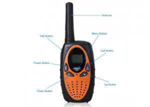 China Multi Function USB Long Range Walkie Talkies With VOX Function Black Color on sale