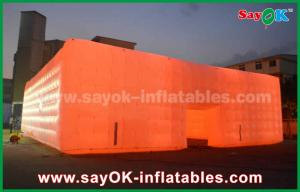 China 16 Different Led Color Outdoor Inflatable Air Tent Cube With PVC Material on sale