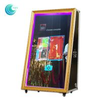 Metal / Wood Frame Magic Photo Mirror , Advertising Function Dream Mirror Photo Booth