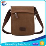 Multifunction Brown Laptop Messenger Bags Washable And Large Capacity