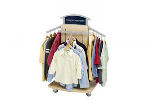 China Heavy Duty Island Shape Garment Display Stand 600 * 600 * 1400MM For Hanging Clothes on sale