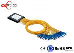 China PON G657A1 2x32 PLC Splitter , 2.0mm SC Connectors Fiber Optic PLC Splitter on sale