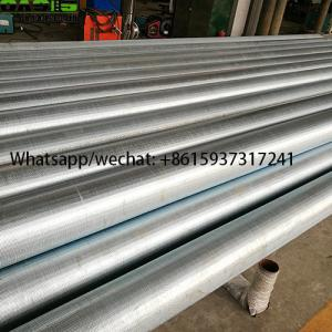 China LCG Galvanized Continuous Slot Wire Wrapped Johnson Well Screens on sale