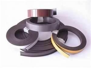 China Extrusion Magnetic Strips Bonded Ferrite Magnet for toys, delays switches, teaching usages on sale
