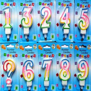 China Birthday candle 0-9 pink Number candles   Artificial  Number candles  Artificial digital candles on sale