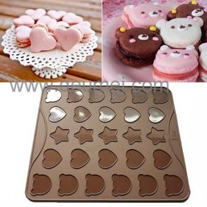 China Wholesale Heat Resistant Silicone Kitchenware Mat/30 Capacity Cartoon Macaron Baking Mat on sale