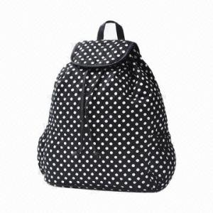 China Fabric  Student Ladies Canvas Backpack Bags With Phone / Zip Pockets on sale