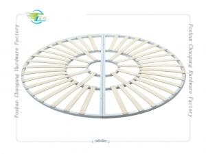 China Round Shaped Folding Metal Slatted Bed Base For Mattress Support on sale