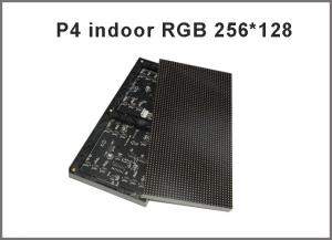 China Full color P4 LED modules 1/16 scan 256*128mm 64*32 pixel indoor p4 RGB led video display on sale