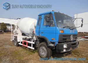 China Dongfeng 153 Blue Cab 6 Wheeler 6 M3 Concrete Mixer Truck Cummins Engine on sale