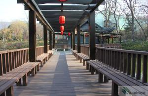 China WPC Wood Plastic Composite Pergola on sale