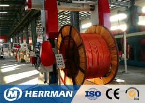 China Metal Sheathing Cable Armouring Machine For High Voltage Power Cable on sale