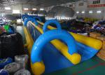 Giant Inflatable Water Slide With 0.55mm ~ 0.90mm PVC Tarpaulin Material