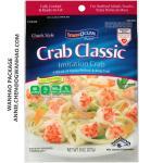 Custom Printing Laminating Frozen Shrimps Seafoods Packaging Bag