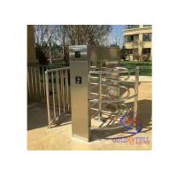 waterproof outdoor biometric electromagnetic entry access turnstile waist gate , cross poles barriers