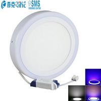Round Flush Mount Lighting-Ceiling Down Lighting Double Color 18+6W LED Panel Light