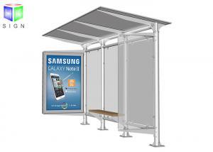 China Bus Stop Shelter Advertising Scrolling Light Boxes Aluminum Frame 30 Watt on sale