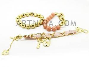 China www.artnina.com beautiful gold bead&personalized chain bracelet on sale