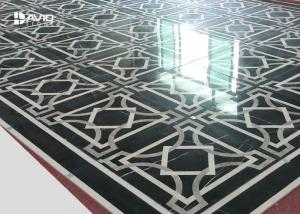 China Decorative Geometric Marble Floor Medallions , Marble Floor Tile Patterns on sale
