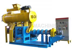 China Wet Type Fish Feed Production Machine , Animal Feed Pellet Mill One Year Warranty on sale