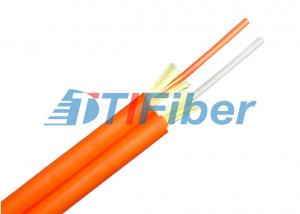 China Duplex Multimode Fiber Optic Cable Zipcord Structure With 2.0 / 3.0 Mm Tight Buffer on sale