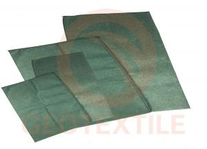 China Anti UV Geotextile Dewatering Bags Green Color For River Slope Protection on sale