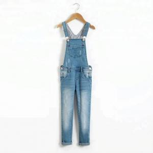 China Fashion Kids Denim Clothes Adjustable Shoulder Strap Overall Denim Jeans For Girls on sale