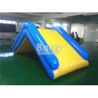 Commercial 4 * 2 * 2M Floating Water Inflatable Slide With 0.9mm PVC Tarpaulin