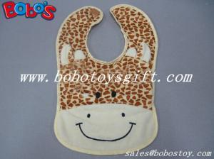 China 13 Baby Infant Personalized Plush Giraffe Baby Bibs on sale