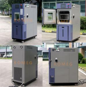 China 64L Benchtop / Desktop Climatic Test Chamber With Hand A Hole Operation Inside Chamber on sale