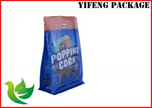 China Popping Corn 8 Side Sealed Flat Bottom Gravure Printing Customize Logo  Plastic  Stand up Pouch with window on sale