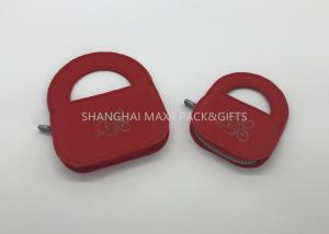 China Crystal Pendant Fancy Jewelry Gift Boxes With Lock Personalised Red Printing Non Woven Felt on sale