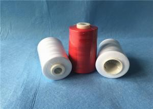 China Low Shrinkage Strong 100 spun polyester yarn For Jeans / Caps / Handbags Sewing on sale