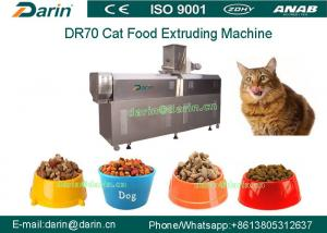 China DR70 SUS304 Multi function Cat Food Snacks Double Screw Processing Line on sale