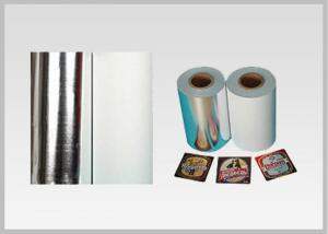 China Non Toxic Vacuum Metallized Paper , Ink Retention Lamination Paper Roll For Beer Wine Bottle Label In High Quality on sale