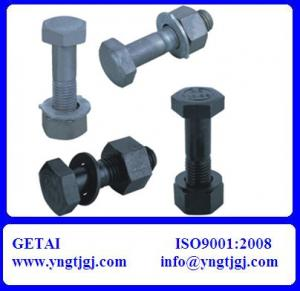 China Large Hexagon Head Bolt With Nut and Washer on sale