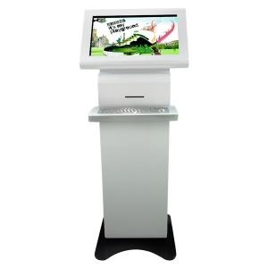 China Infrared IR Touch Screen Monitor Floor Stand , Multimedia Free Standing Digital Signage on sale