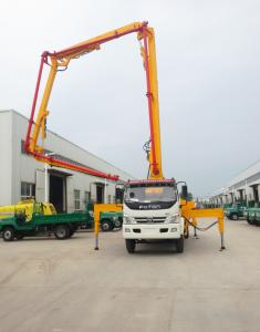 China China Best Price Cummins FOTON Truck-mounted Concrete Pumps With Hydraulic Long Booms on sale