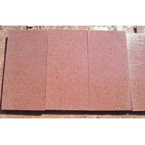 China Red flamed granite tile on sale