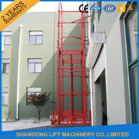 Guide Rail Chain Hydraulic Elevator Lift , Home Cargo Double Cylinder Hydraulic Lift
