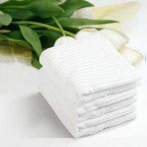 China 5 Star Jacquard Organic Cotton Towels Soft Luxury Hotel Towels For Water Absorption on sale