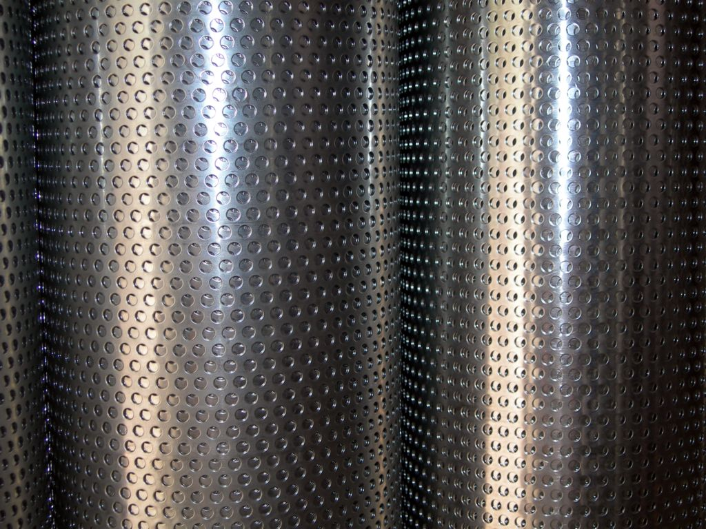 Facade Perforated Metal Mesh Stainless Steel Round Hole