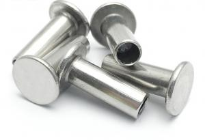 China Countersunk Flat Head Stainless Steel Semi Tubular Rivet , Flush Mount Head Rivet on sale