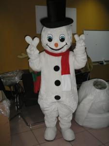 Quality adult plush snowman christmas costume for sale