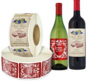 China Glass Bottles Food Packaging Labels With Multi color Screen Printing on sale