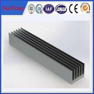 Quality OEM 300 types per year anodized aluminum alloy profile extruded aluminum heatsink for sale