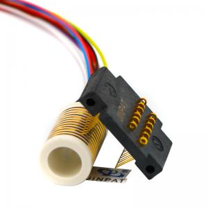 China CE 12 Circuits Electrical Swivel Connector Slip Ring With Large Insulation Resistance on sale