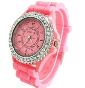 China 2012 Luxury Silicone Geneva watches with Crystal Quartz on sale