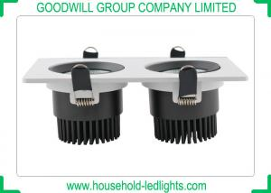 China Recessed Installation High Power LED Downlight , 2 * 9W COB LED Down Lights on sale